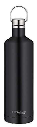 ThermoCafé by THERMOS Thermosflasche Traveler Bottle schwarz 750ml, Edelstahl Trinkflasche 100% dicht auch bei Kohlensäure, Isolierflasche 12 Stunden heiß, 24 Stunden kalt, BPA-Frei, 4070.232.075