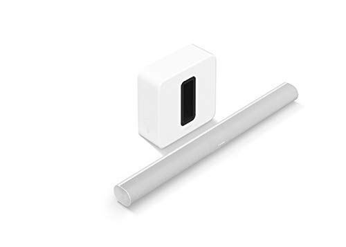 Sonos Arc - The Premium Smart soundbar for TV, Movies, Music, Gaming, and More - White with Sonos Sub (Gen 3) - The Wireless subwoofer for deep bass - White