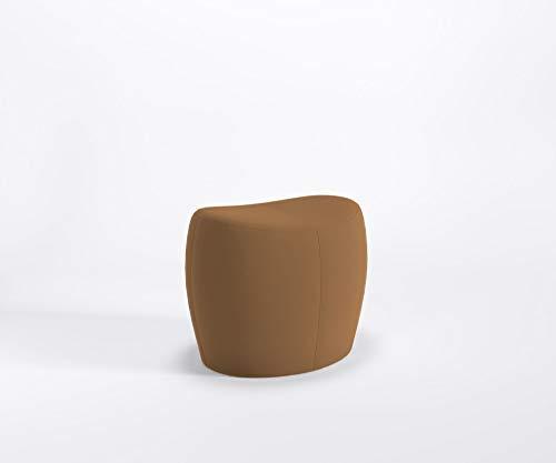 Marbet Style designer zitpoef ONLY Lounge poef kruk voetensteun kunstleren bekleding Valencia V0002 - Cognac