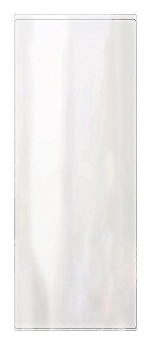 """RABCO Menu Cover: Single Pocket 2 View, for 4 ¼"""" x 11' Insert (24-Pack) Made in USA, Non-Toxic, Polished Crystal Clear, All 10 mil Vinyl, Strong RF Heat-Sealed Seams, Easy to Clean"""