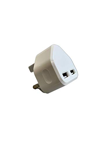 ELKY White Dual 2AMP/2000mAh Rapid Double Speed Universal USB Charger With Smart IC UK Plug For iPhone/iPad/iPod/Samsung Galaxy Tab/HTC/Windows Phone/Tablet & USB Socket Devices (White)