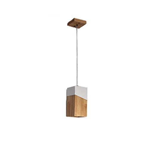 Lustre de style moderne nordique, plafonnier rectangulaire en bois, bar dessert boutique hôtel café restaurant pendentif lumière, chambre den balcon lumière