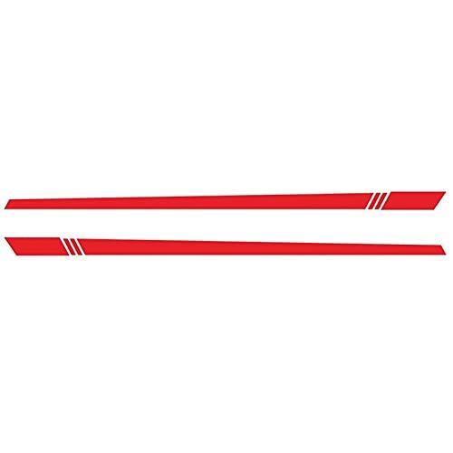 RZL 1 juego universal Side Car Sticker Decal rayas cuerpo lateral Adhesivos de vinilo del abrigo de la película tira larga auto-adhesivo de etiquetas a prueba de agua Etiquetas engomadas del estilo de