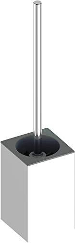 KEUCO Toilettenbürsten-Garnitur aus Metall, hochglanz-verchromt, WC-Bürste mit Halterung, Wandmontage für Bad und Gäste-WC, Klobürste, Edition 90