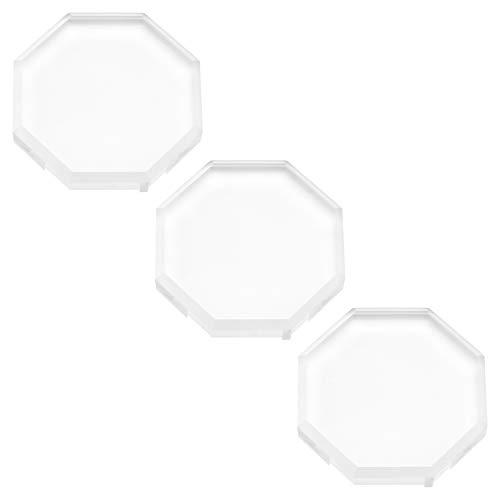 Lurrose Lurrose 3pcs Support palette adhésives colle cils extension cristal verre femmes fille