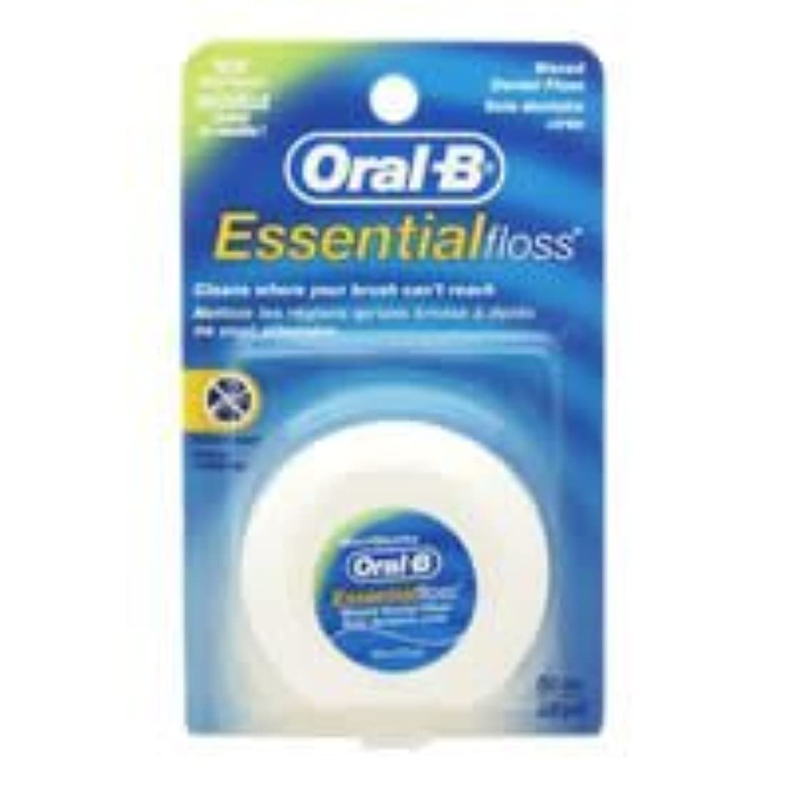 話をする指定する回転するOral-B Essential Waxed Dental Floss Mint by Oral-B