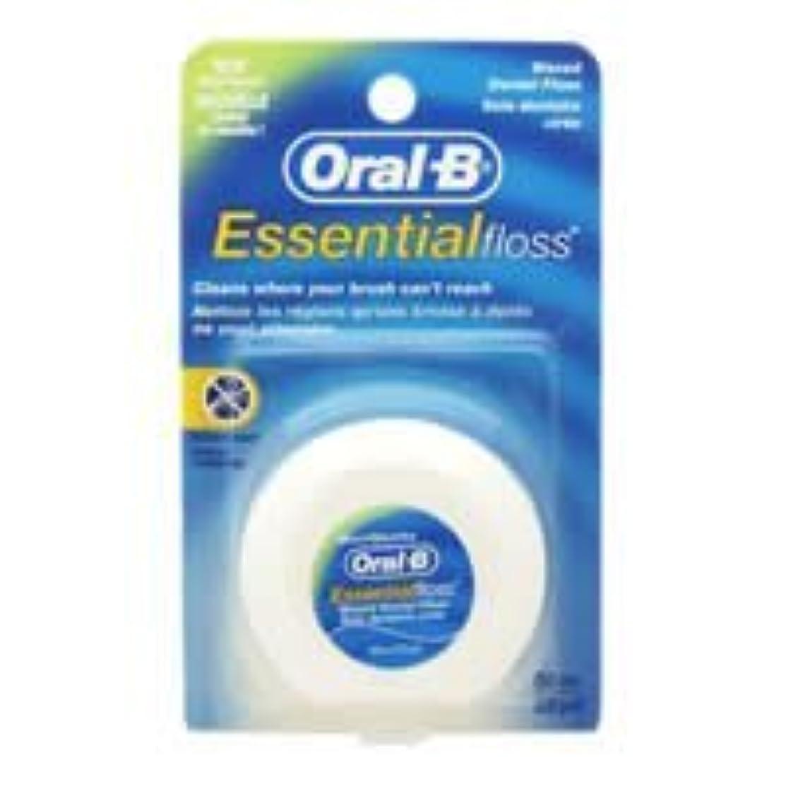 軽静める永久Oral-B Essential Waxed Dental Floss Mint by Oral-B