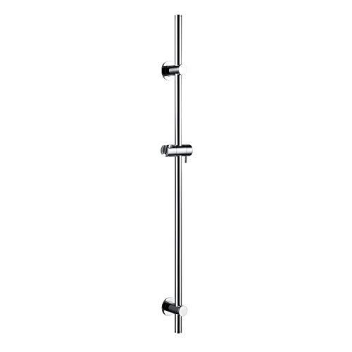 WISTUM Barra deslizante de ducha sin tornillos de latón con soporte ajustable y universal para cabezal de ducha, no requiere perforación, 90cm acabado cromado