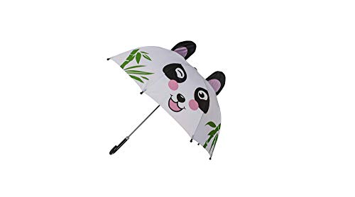 Bavaria Home Style Collection Panda - pandabeer - paraplu - de handgreep is voor kinderhanden precies goed zodat de paraplu ook bij sterkere wind veilig kan worden vastgehouden. (Panda met groen)