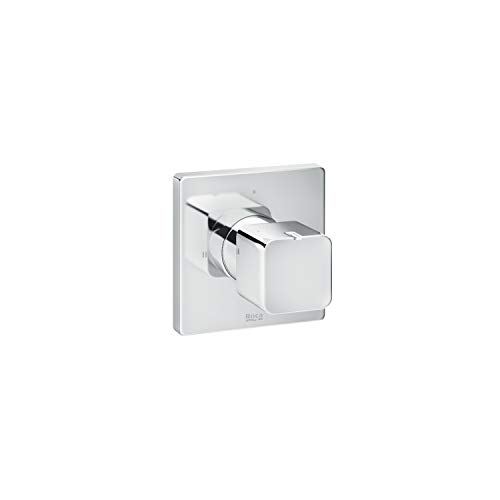 Mando de ducha inversor emportrado 2 vías Square Roca, 6 x 8 x 8 centímetros, color cromado (Referencia: A5A164AC00)