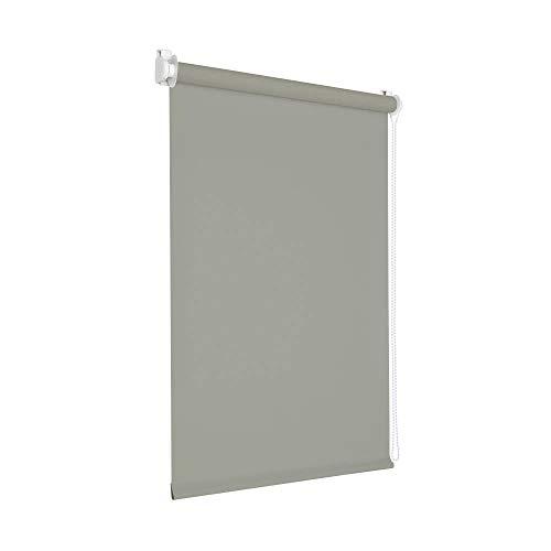 Victoria M. Tenebra Verdunkelungsrollo Rollo ohne Bohren für Fenster und Türen, 130 x 160 cm, grau
