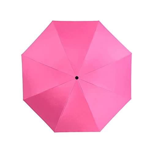 XYLXJ Paraguas plegable Totalmente automático Negro Revestimiento Paraguas Moda Color Paraguas Sombrilla de los hombres Sombrilla plegable Sun Umbrella (Color: Azul) (Rosa)