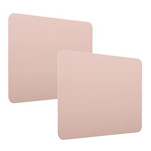 Alfombrilla de ratón Ligera, Alfombrilla de ratón Resistente al Agua y a Las Manchas de 2 mm, Material de Piel de PVC, Alfombrilla de ratón de Color de Doble Cara(Rosa + Plata)