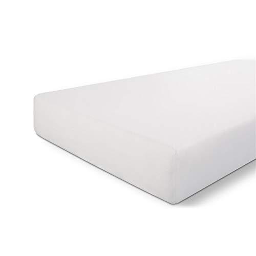 Walra Sábana bajera 140 x 200, 100% algodón, ajuste perfecto para el colchón, sensación suave, no se arruga ni necesita planchado, color blanco