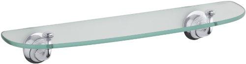 KOHLER K-11283-CP Forté Glass Shelf, Polished Chrome