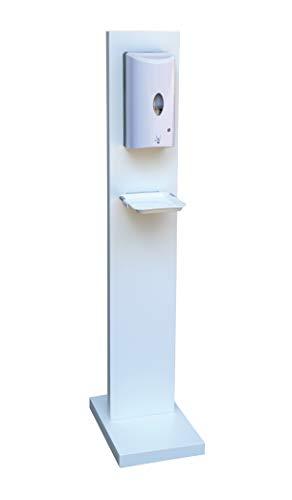 Hochwertige Hygienesäule| kontaktlos |Hand Desinfektionsstation| inkl. automatischen Desinfektionsmittelspender 1000 ml mit Sensor| berührungslos | batteriebetrieben | inkl. Abtropfschale