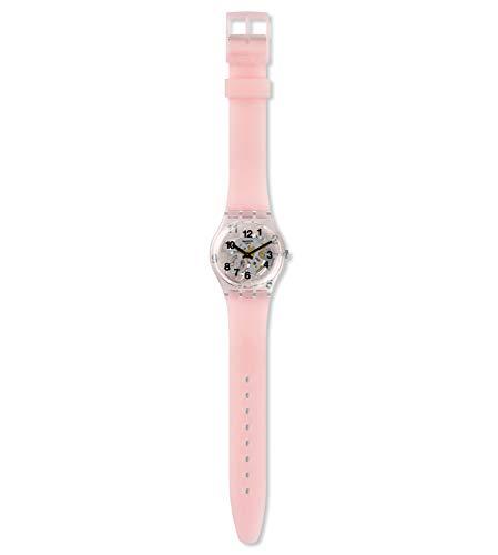 Swatch Unisex Erwachsene Analog Quarz Uhr mit Silikon Armband GP158