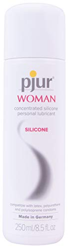 pjur Woman Silicone Based Personal Lubricant Specially Formulated for Women Female Skin Formula | 8.5 fl oz/250 ml