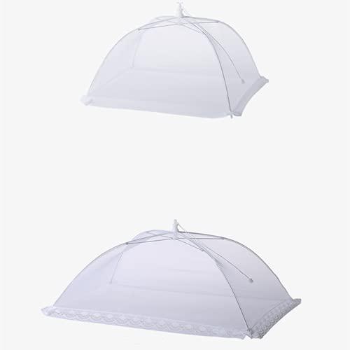 2 paquetes pop-up Cubiertas de alimentos de malla, diseño paraguas plegables, reutilizables, protegen los alimentos de las moscas de la fruta, para camping al aire libre, picnics, fiestas, barbacoa