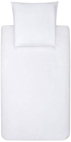 AmazonBasics - Bettwäsche-Set, Mikrofaser, 140 x 200 cm - Weiß