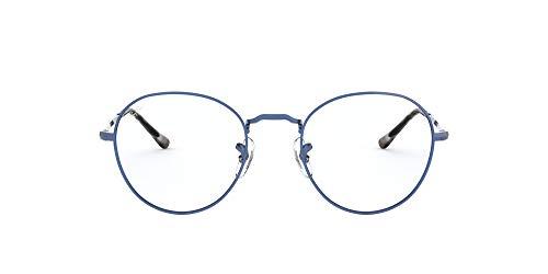 Ray-Ban Round Metal II Gafas de Lectura, Blue, 49 Unisex Adulto