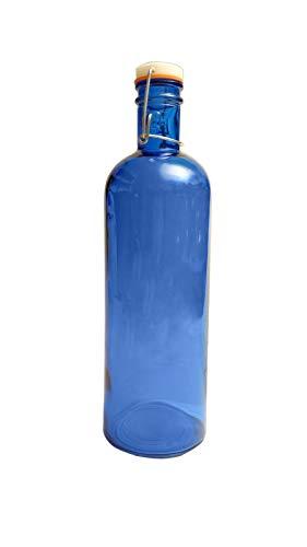 Botella Agua Cristal Color Azul 1,5L Vidrio Reciclado