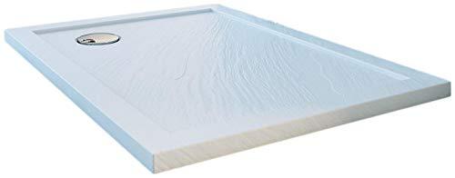 Piatto Doccia 70x110 cm in Acrilico Fosterberg Floret 2 Bianco