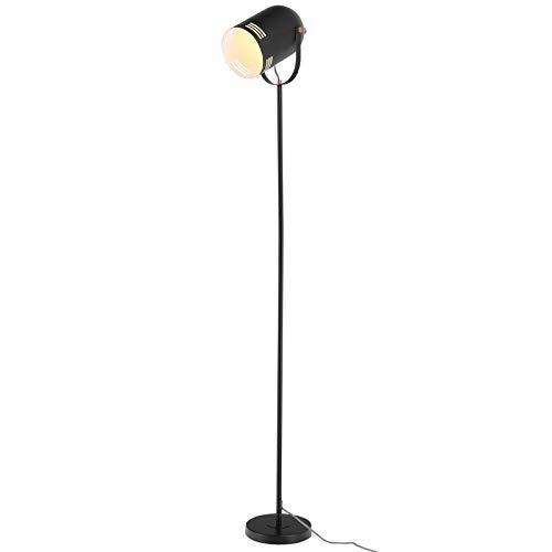 HOMCOM Stehleuchte Stehlampe E27-Fassung neben Sofa 90° verstellbar Metall Schwarz 25,5 x 20 x 155 cm