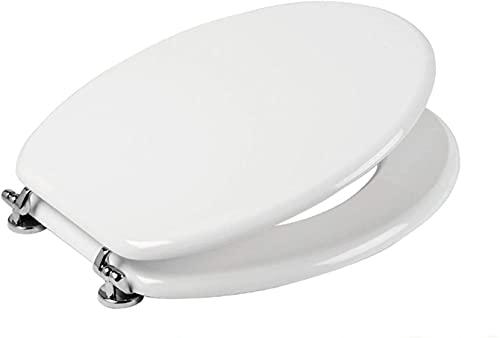 ELETTROFERRO SEDILE COPRIWATER TAVOLETTA BIANCO UNIVERSALE PER BAGNO COPRI WC IN LEGNO
