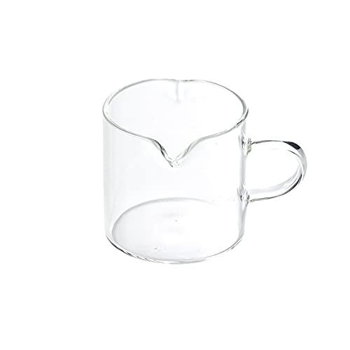 Salsiera Brocchetta da zucchero con ciotola di zucchero trasparente barca in vetro Banco da zucchero Crema classica con manico adatto for pomeriggio tea party e dessert torta 3 pezzi Salsiera per con