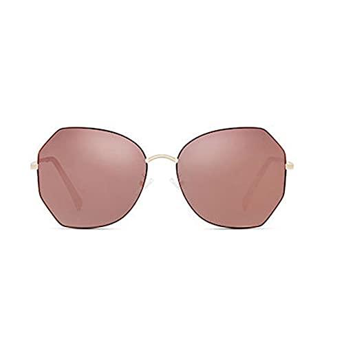 Espejo clásico Gafas de Sol polarizadas 99% UVA Protección UVB, Tendencia a la Moda Anti-Ultravioleta, cómoda para Usar y Adecuado para Viajes al Aire Libre (Color : Brown)