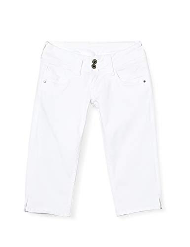 Pepe Jeans Damen Bermuda, Weiß (Optic White 802), W29 (Herstellergröße: 29)