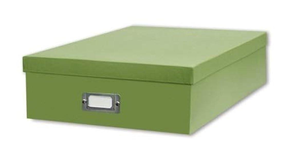 TSVP Jumbo Scrapbook Storage Box, Sage Green, 14 3/4