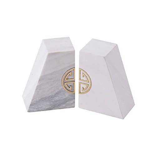 jinyi Sujeta Libros Sujetalibros Chino Marble Sookends Bookthelf Escritorio Geométrico Tres-Dimensional Oficial DE LA Oficina DE LA Oficina DE LA ADUMENTACIÓN DE LA DECURACIÓN Creativa Sujetali