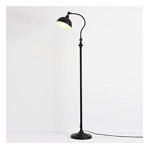 zdz Smart 12W DIRIGIÓ Lámpara de pie, Control Remoto de Metal con Control de Ojos con vigilancia de la luz de la pisada de Metal, para Dormitorio, Sala de Estudio (Color : Black)