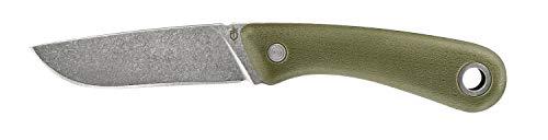 Gerber Outdoormesser mit Holster, Klingenlänge: 9,4 cm, Spine Fixed Blade Outdoor Knife, Grün, 31-003688