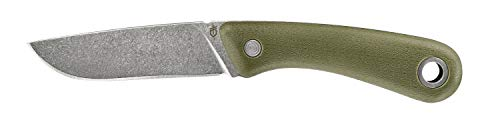 Gerber Outdoormesser mit Holster, Klingenlänge: 9,4 cm, Spine Fixed Blade Outdoor Knife, Grün, 31-003688