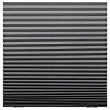 3 persianas plisadas, color gris oscuro.