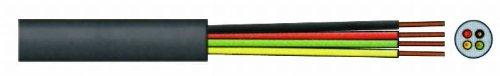 VS-ELECTRONIC - 274090 Telefonkabel, 4-adrig, Rund, 100 m Länge, Schwarz TC76106R