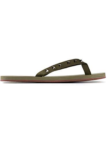 Valentino Luxury Fashion Herren IY0S0872NSSA08 Grün Flip-Flops | Jahreszeit Outlet