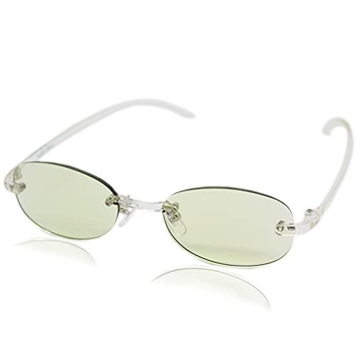 (エイトトウキョウ)eight tokyo 老眼鏡 ブルーライトカット おしゃれ メンズ レディース 兼用 軽量 かわいい 1.5 UVカット シニアグラス リーディンググラス[ 鯖江メーカー企画 ]クリア/ライトグリーン RDFTR-CL+1.5