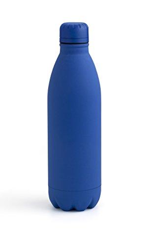 Quid Riviera Botella de 75 Cl, Acero Inoxidable, Azul