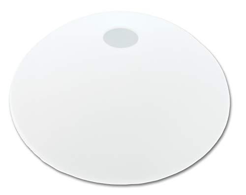 Lampenschirm, Ersatzlampenschirm aus Glas Durchmesser 32 cm geeignet für Deckenhängelampen, Stehfluter, Pendelleuchten mit E-27 Fassungen, satiniert (weiß)