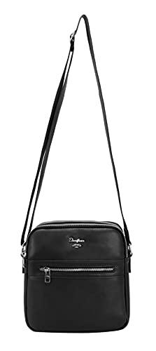 David Jones Messengertasche, Damen, Einheitsgröße, Schwarz - Größe: Einheitsgröße
