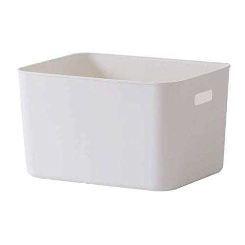 ZYL-YL Cesta de almacenamiento de plástico, caja de almacenaje de las misceláneas plástico Baño Cocina Baño cesta del almacenaje de escritorio juguete Snacks la cesta del almacenaje Armario de almacen
