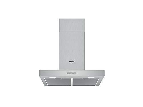 Siemens LC64BBC50 iQ100 Dunstabzugshaube/Wandhaube / 60 cm / LED-Beleuchtung / Metall-Fettfilter / Spülmaschinengeeignet / Edelstahl