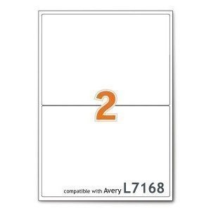 200 Etiketten 210x297mm, 100 Blatt DIN A4, geeignet für Inkjetdrucker-, Laserdrucker und Kopierer.
