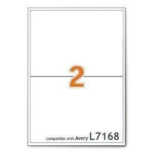 Boxed A4 Mailing Address Printer Labels Sheet 2 Labels Per Sheet 100 Sheets...