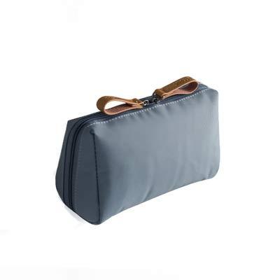 BLI 1pc Solid Cosmetic Bag Ladies Cosmetic Bag Pouch Cosmetic Bag Waterproof Storage Bag Necessities Gray