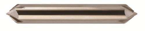 Bassett B10230 MCH-4D Series Solid Carbide End Mill, Uncoated (Bright) Finish, 4 Flute, 90 Degrees Profile Angle, Chamfer End, 0.58